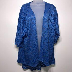 LuLaRoe Lindsay Lace Kimono Cardigan Size Medium